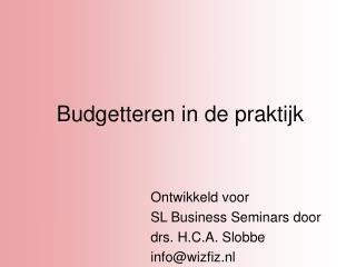 Budgetteren in de praktijk