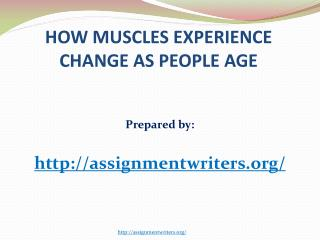 How Muscles Experience Change As People Age