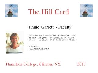 The Hill Card