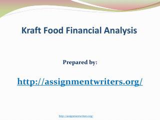 KRAFT FOOD FINANCE ANALYSIS