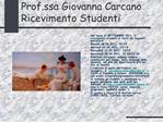 Prof.ssa Giovanna Carcano Ricevimento Studenti