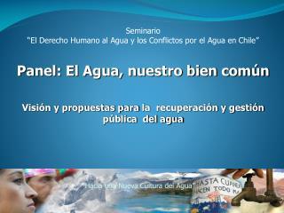 """Seminario """"El Derecho Humano al Agua y los Conflictos por el Agua en Chile"""""""