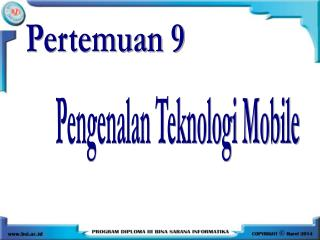 Pengenalan Teknologi Mobile