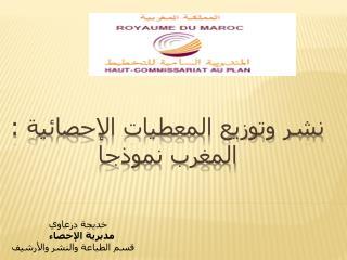 نشر وتوزيع المعطيات الإحصائية : المغرب نموذجا