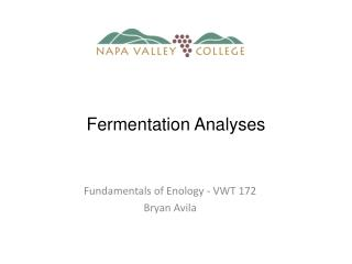 Fundamentals of Enology - VWT 172 Bryan Avila