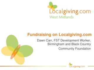 Fundraising on Localgiving
