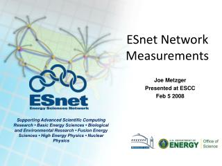 ESnet Network Measurements