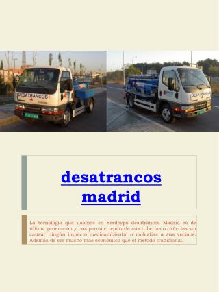 desatrancos madrid