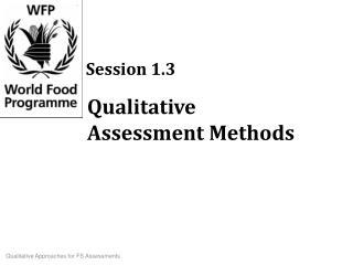 Qualitative Assessment Methods