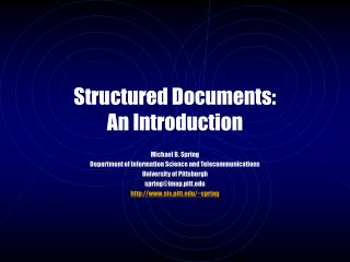 Structured Documents: An Introduction