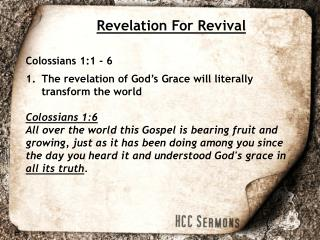 Revelation For Revival