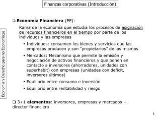 Finanzas corporativas (Introducción)
