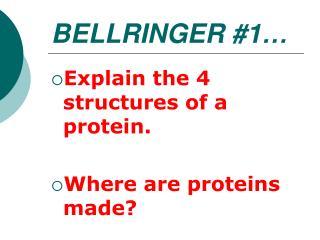 BELLRINGER #1…