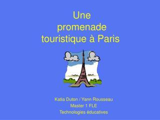 Une  promenade  touristique à Paris