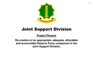 Joint Support Division