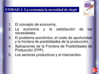 El concepto de economía. La economía y la satisfacción de las necesidades.