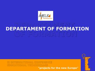 DEPARTAMENT OF FORMATION