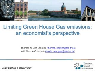 Limiting Green House Gas emissions: an economist's perspective