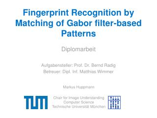 Fingerprint Recognition by Matching of Gabor filter-based Patterns