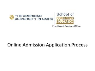 Enrollment Services Office Online Admission Application Process