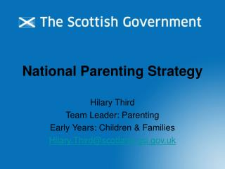 National Parenting Strategy