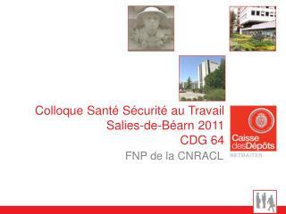Colloque Santé Sécurité au Travail Salies-de-Béarn 2011 CDG 64