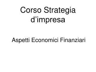 Corso Strategia d'impresa