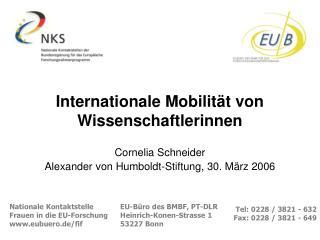 Internationale Mobilität von Wissenschaftlerinnen