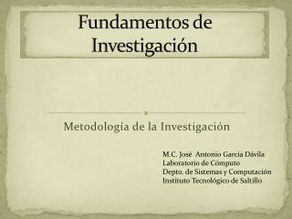 Fundamentos de Investigación