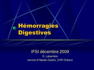 H morragies Digestives