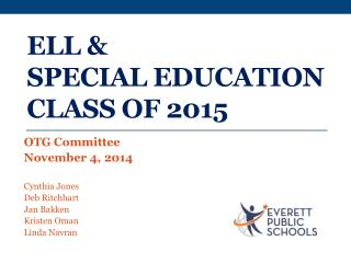 ELL & Special Education Class of 2015