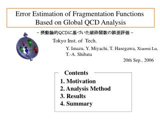 Error Estimation of Fragmentation Functions  Based on Global QCD Analysis