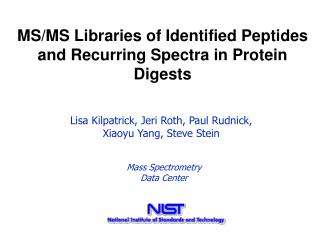 MS/MS Libraries of Identified Peptides and Recurring Spectra in ...