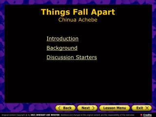 Things Fall Apart Chinua Achebe