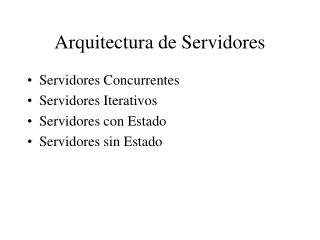 Arquitectura de Servidores