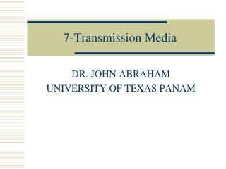 7-Transmission Media