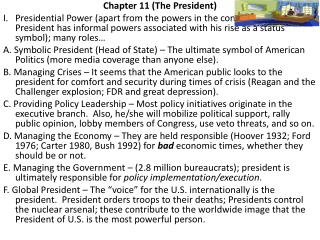 Chapter 11 (The President)