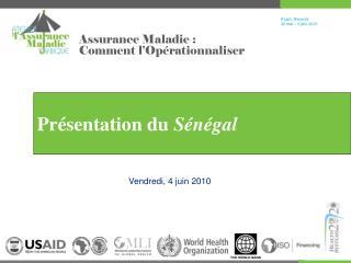 Pr é sentation du  Sénégal
