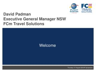 David Padman Executive General Manager NSW FCm Travel Solutions