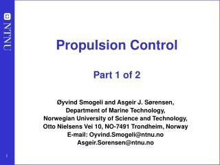 Propulsion Control Part 1 of 2