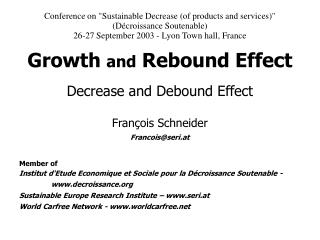 Growth and Rebound Effect