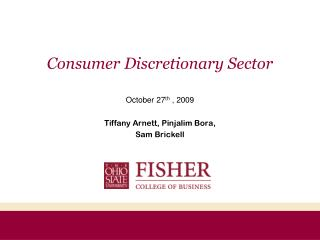 Consumer Discretionary Sector