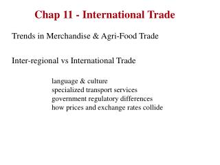 Chap 11 - International Trade