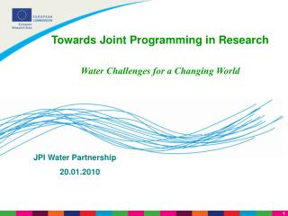 JPI Water Partnership             20.01.2010