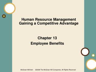Human Resource Management Gaining a Competitive Advantage
