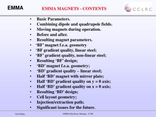 EMMA MAGNETS - CONTENTS