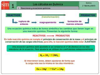 Los c�lculos en Qu�mica
