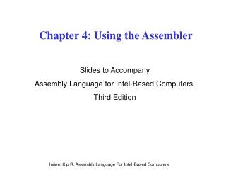 Chapter 4: Using the Assembler