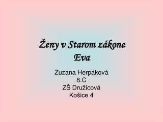 Ženy v Starom zákone Eva