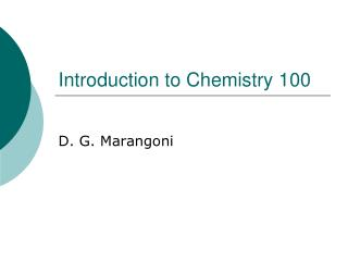 Introduction to Chemistry 100
